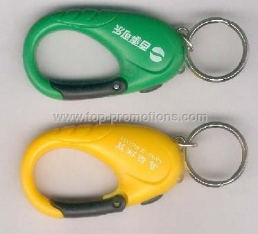Carabiner keychain with white