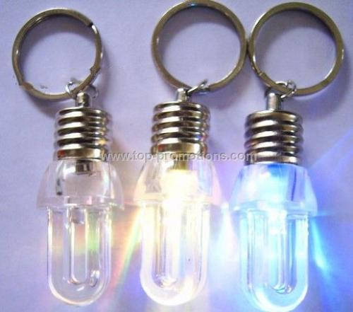 LED Light Bulb Keychain