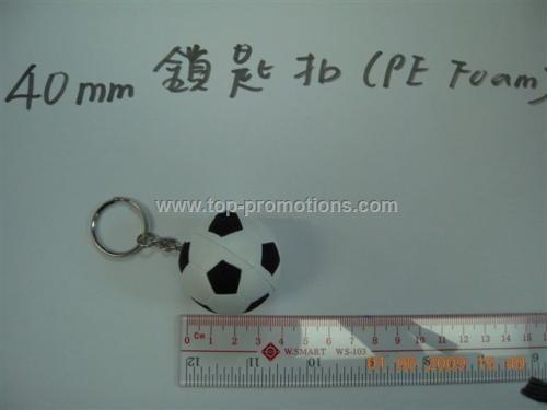 PU footale keychain