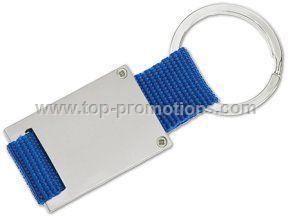 Web strap metal key holder