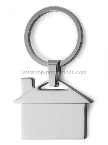 Metal keychain house