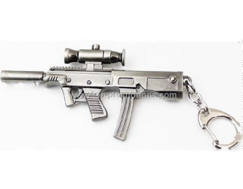 Fire Metal Gun Keychain