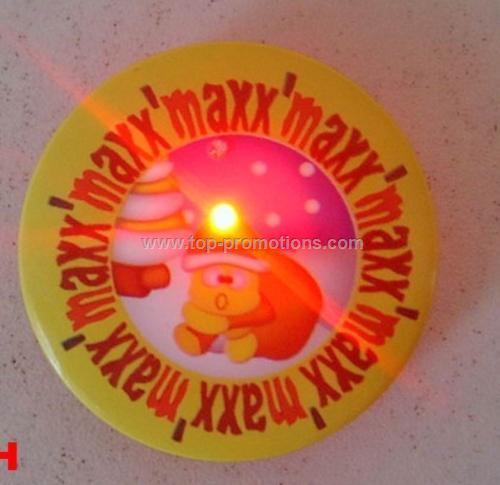Flashing badge