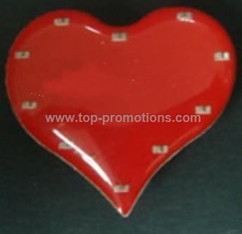heart shape Flashing Badge