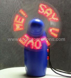 LED flashing fan
