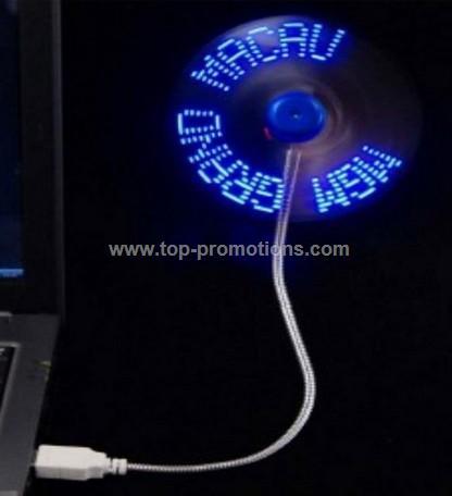 USB Mini Fan With Flashing