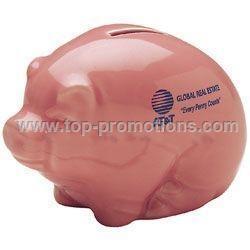 Handmade Piggy Bank - Glossy Pink
