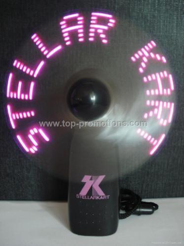 Mini flashing fan