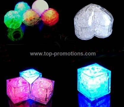 Shaped illuminated ice cube