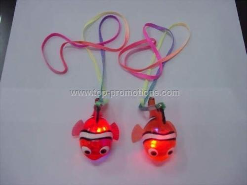 seven colors flashing nemo fish necklace