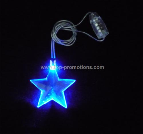 Flashing Necklace with Star Pendant
