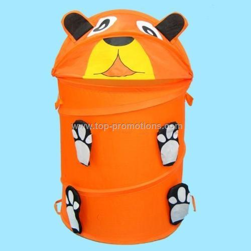 Pop up cartoon hamper