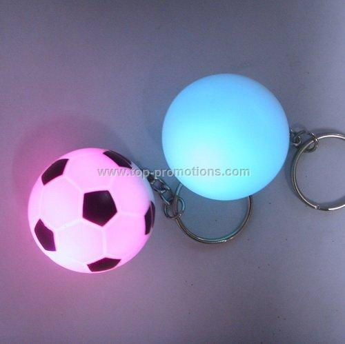 LED flashing ball keyring