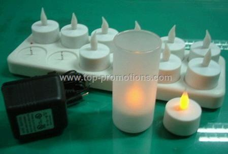 Rechargeable LED candle