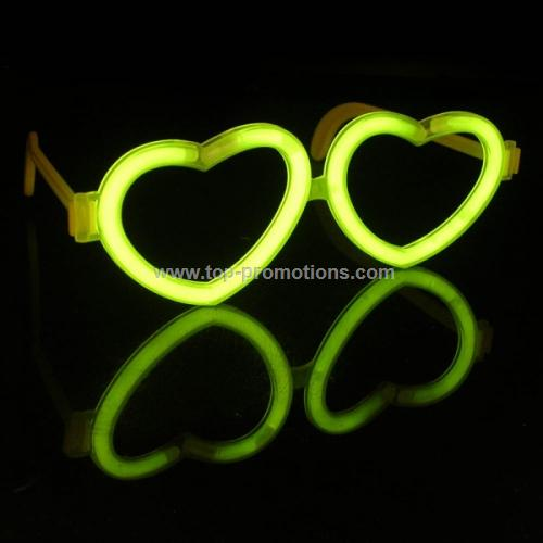 Heart Shape Glow Glasses