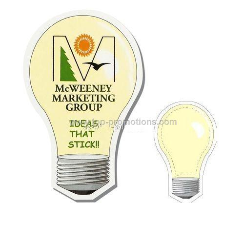 Light Bulb Shaped Magnet - Digitally Printed