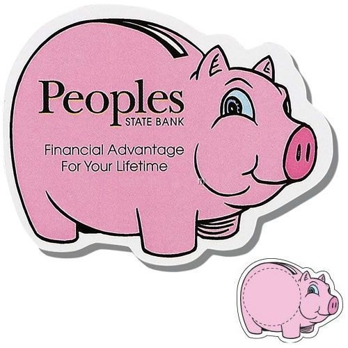 Piggy Bank Shaped Magnet - Digitally Printe