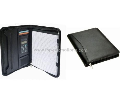 A4 Zip Compendium with Calculator