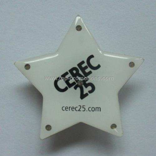 LED Flashing star pin
