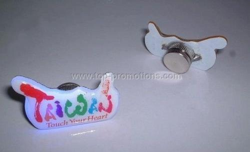 Led flashing promotional pin