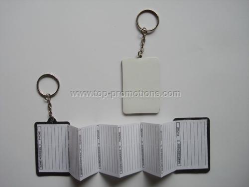 Address book with keychain