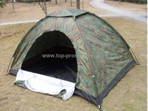 Camouflaged tent