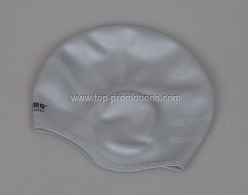 100 is silicone swimming cap