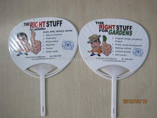 Promotional plastic fans