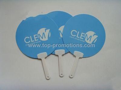 Promotional plastic fan