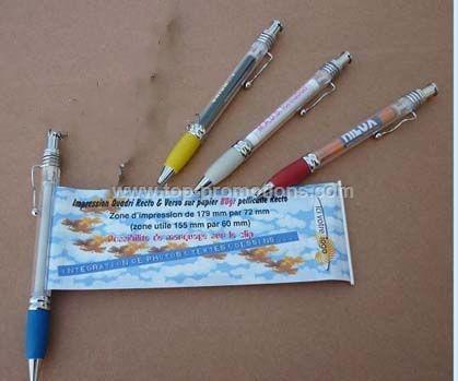 promotinal metal clip banner pen