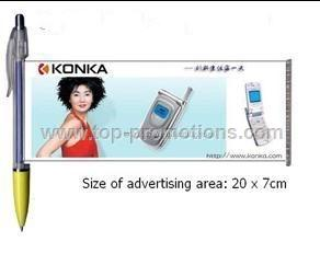 Advertising Banner Pen/Roller Pen with Pull Image