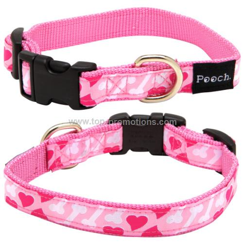 Pink Nylon pet Collar