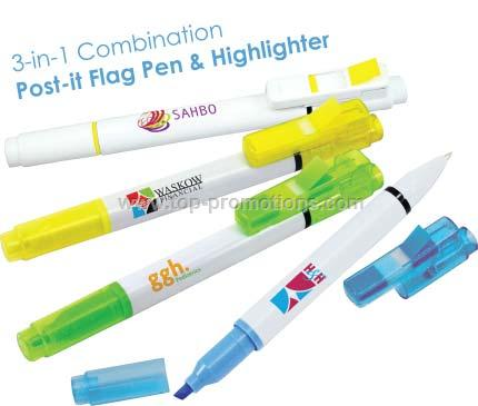 flag pen and highlighter