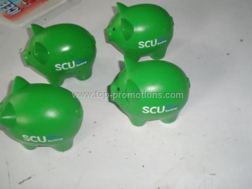 Green pig stress ball