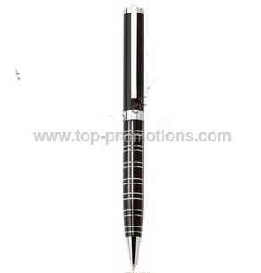 Metal pen with Ridged Barrel