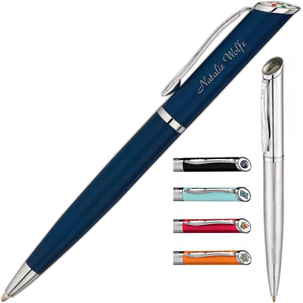 Ballpoint pen with slant top