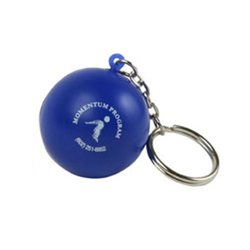 Blue stress ball key ring