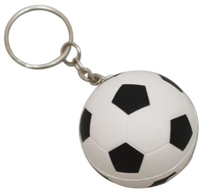 Soccer Ball Anti Stress Keyring