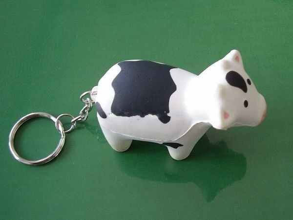 PU Stress Toy with key chain