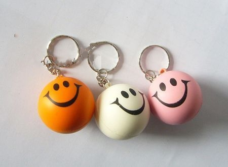 Stress ball with keychain