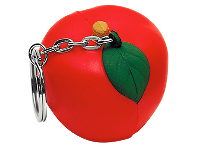 Apple Stress Ball Keychain
