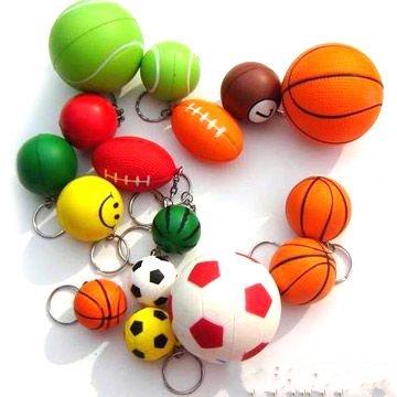 stress ball key chains