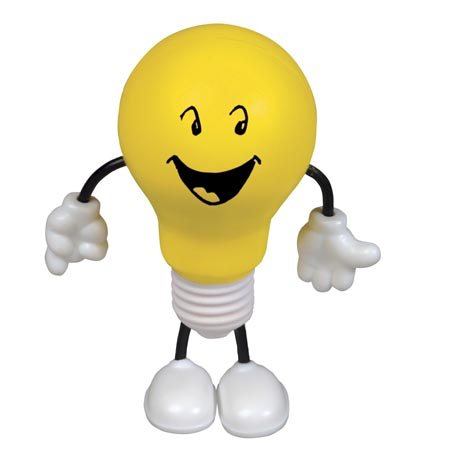 Light Bulb Figure Stress Balls