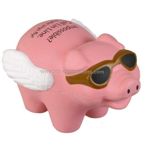 Flying Pig Squeeze Toy