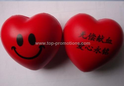 promotional heart shape anti stress ball