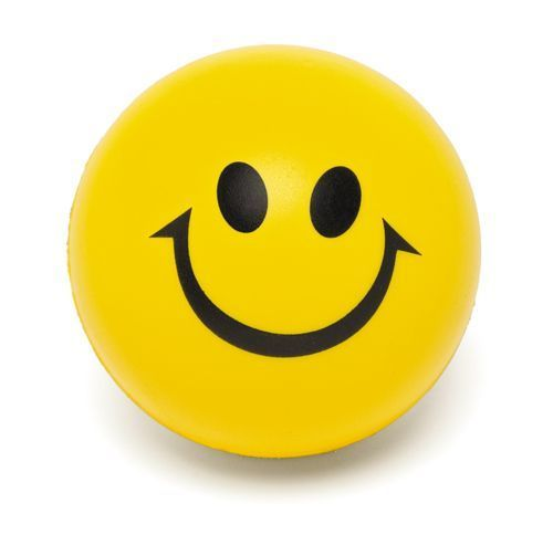 Smiley Squeeze Ball,Promotional items with logo PU Anti Stress ball