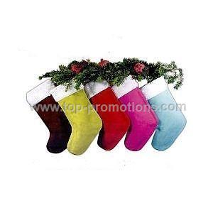 Suede Christmas sock