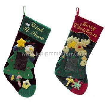 Christmas Stocking with Photo Frame