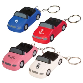 Sports Car Keychain Promotional Stress Ball