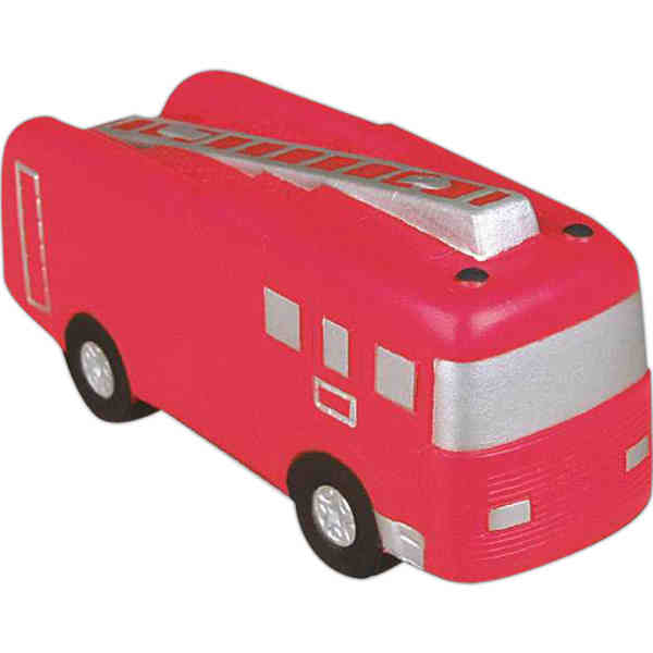Red Fire Truck Stress Reliever With Black And Silv